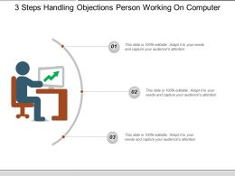 3 Steps Handling Objections Person Working On Computer