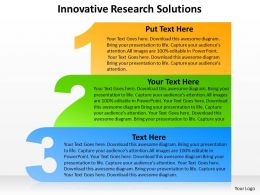 3 steps innovative research solutions with 1 2 3 outlines powerpoint diagram templates graphics 712