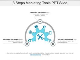 3 Steps Marketing Tools Ppt Slide