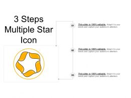 3 Steps Multiple Star Icon Powerpoint Guide