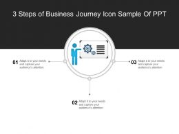 3 Steps Of Business Journey Icon Sample Of Ppt