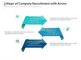 3 Steps Of Company Recruitment With Arrow