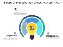 3 Steps Of Employee Recruitment Process In Pie