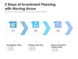 3 Steps Of Investment Planning With Moving Arrow