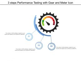 3 Steps Performance Testing With Gear And Meter Icon