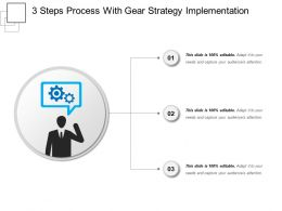 3 Steps Process With Gear Strategy Implementation