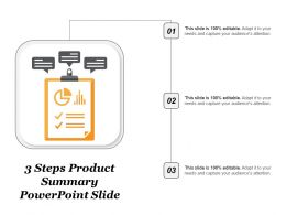 3 Steps Product Summary Powerpoint Slide