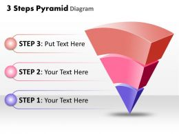 3 Steps Pyramid Diagram Powerpoint templates ppt presentation slides 0812