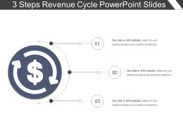 3 Steps Revenue Cycle Powerpoint Slides