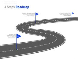 3 Steps Roadmap C1312 Ppt Powerpoint Presentation Infographics Slides