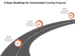 3 Steps Roadmap For Construction Costing Proposal Ppt Powerpoint Presentation Gallery