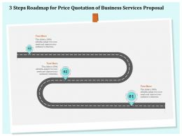 3 Steps Roadmap For Price Quotation Of Business Services Proposal Ppt Model