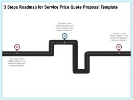 3 Steps Roadmap For Service Price Quote Proposal Template Ppt Layouts