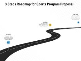 3 Steps Roadmap For Sports Program Proposal Ppt Powerpoint Presentation Templates