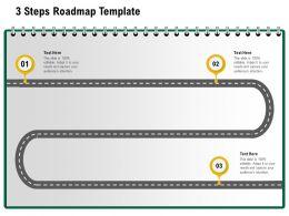 3 Steps Roadmap Template M1230 Ppt Powerpoint Presentation Show Visuals