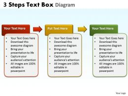 3 Steps Text Box Diagram 2