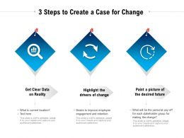 3 Steps To Create A Case For Change