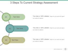 3 Steps To Current Strategy Assessment Sample Of Ppt