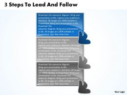 3 Steps To Lead And Follow Flowchart Free Powerpoint Templates