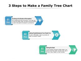 3 Steps To Make A Family Tree Chart