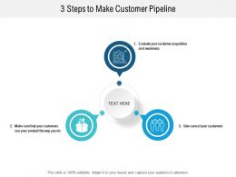 3 Steps To Make Customer Pipeline