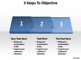 3 steps to objective editable powerpoint templates