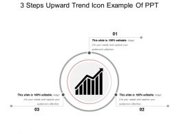 3 Steps Upward Trend Icon Example Of Ppt