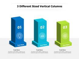 3 Steps Vertical Standing Columns