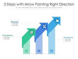 3 Steps With Arrow Pointing Right Direction