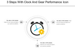 3 Steps With Clock And Gear Performance Icon