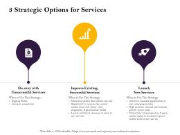3 Strategic Options For Services Areas Ppt Powerpoint Presentation Slides Slideshow