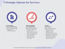 3 Strategic Options For Services Market Ppt Powerpoint Presentation Pictures Ideas