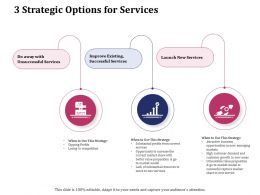 3 Strategic Options For Services Ppt Powerpoint Presentation Gallery Visual Aids