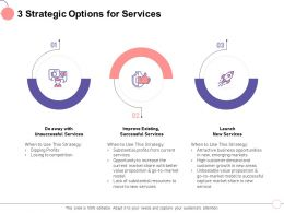 3 Strategic Options For Services The Current Ppt Powerpoint Presentation Diagram Ppt