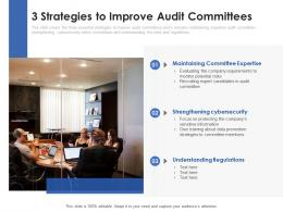 3 Strategies To Improve Audit Committees