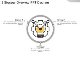 3 Strategy Overview Ppt Diagram
