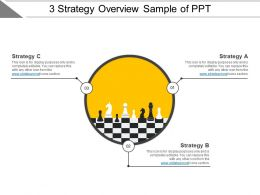 3 Strategy Overview Sample Of Ppt