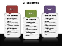 3 text boxes editable powerpoint templates