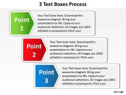 3 text boxes stacked up with labels on side process powerpoint diagram templates graphics 712