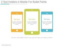 3 Text Holders In Mobile For Bullet Points Sample Of Ppt