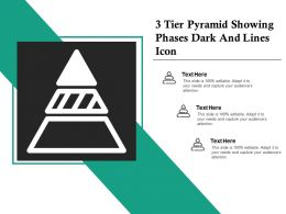 3 Tier Pyramid Showing Phases Dark And Lines Icon