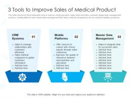 3 Tools To Improve Sales Of Medical Product