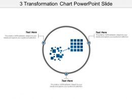 3 Transformation Chart Powerpoint Slide