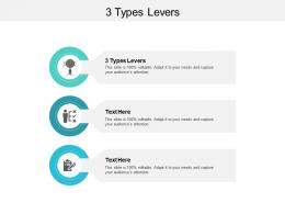 3 Types Levers Ppt Powerpoint Presentation Model Graphic Tips Cpb