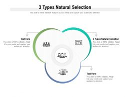 3 Types Natural Selection Ppt Powerpoint Presentation Model Example File