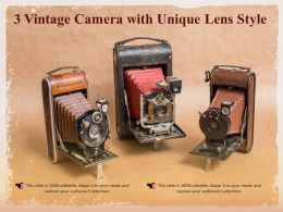 3 Vintage Camera With Unique Lens Style