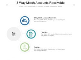 3 Way Match Accounts Receivable Ppt Powerpoint Presentation Slides Master Slide Cpb