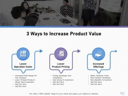 3 Ways To Increase Product Value To Attract Ppt Powerpoint Presentation Gallery Guide