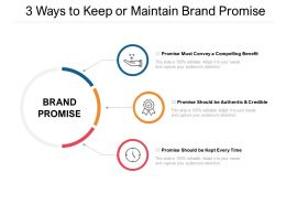 3 Ways To Keep Or Maintain Brand Promise