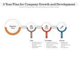 3 Year Plan For Company Growth And Development
